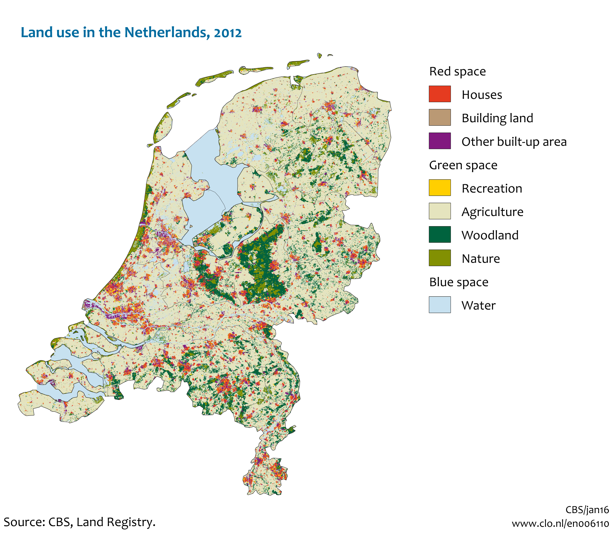 land use in the netherlands 2012 compendium voor de leefomgeving