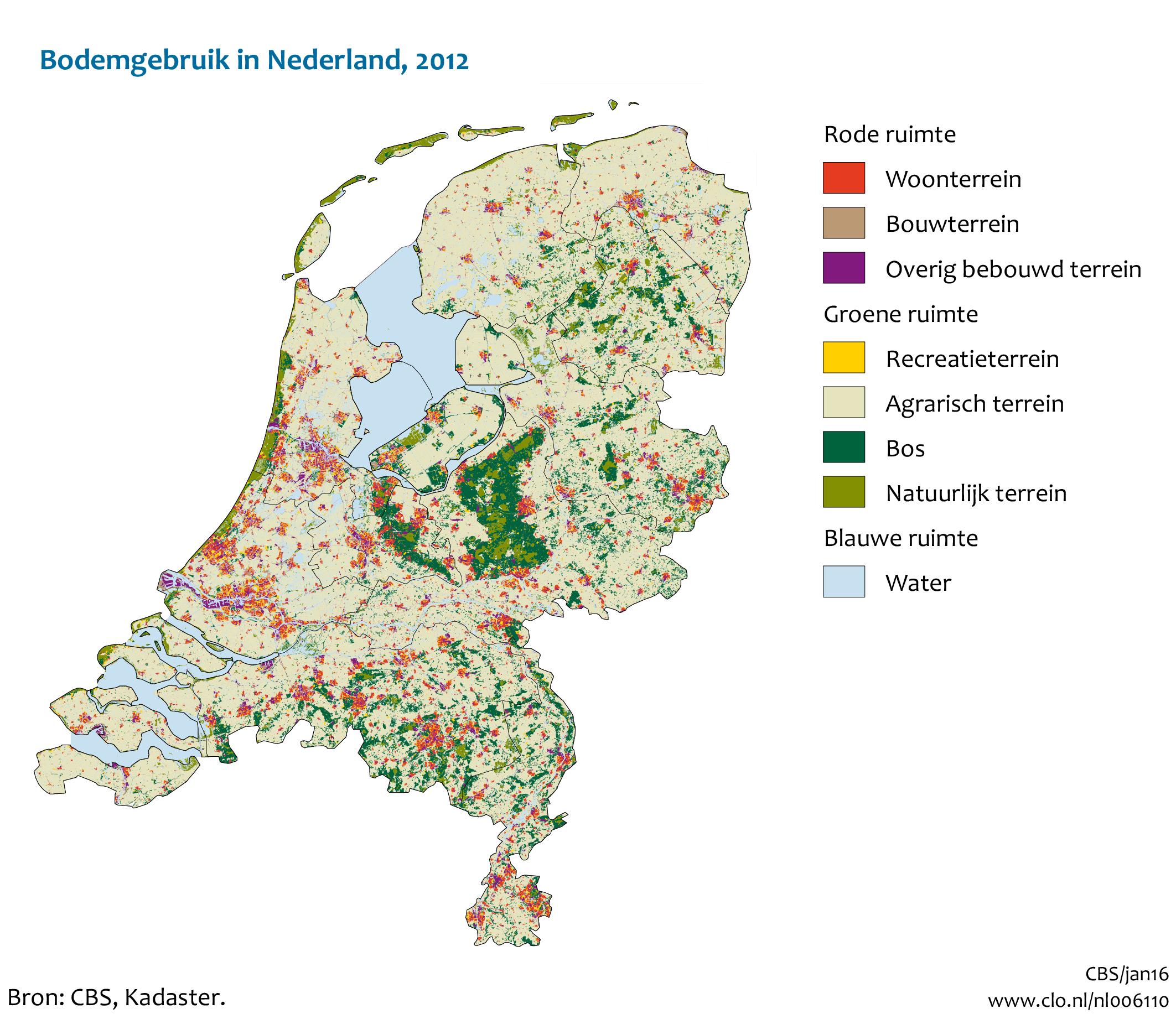 kaart bodemgebruik van nederland 2012 compendium voor de