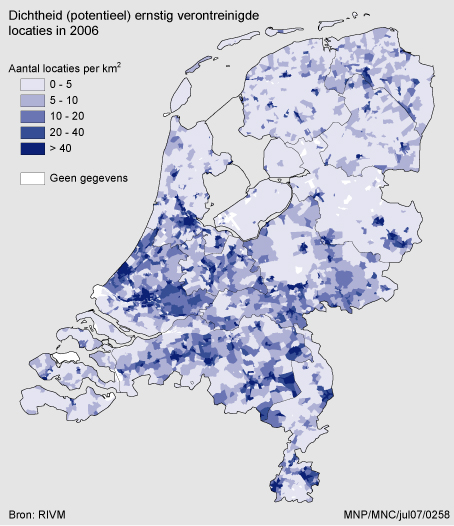 gegevens hoogste grondwaterstand