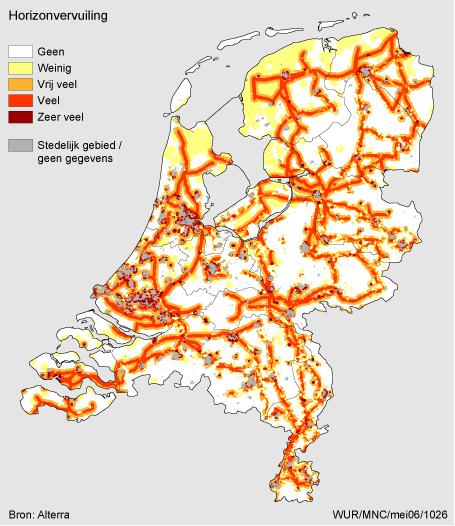 hoogspanningsmasten kaart Horizonvervuiling | Compendium voor de Leefomgeving
